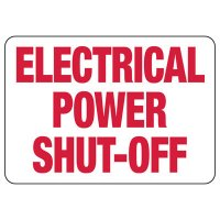 Electrical Safety Signs - Electrical Power Shut-Off