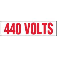 Voltage Warning Labels - 440 Volts