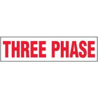 Voltage Warning Labels - Three Phase