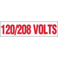 Voltage Warning Labels - 120/208 Volts