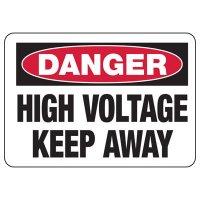 Danger High Voltage Sign - Keep Away