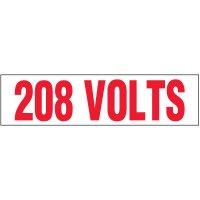 Voltage Warning Labels - 208 Volts