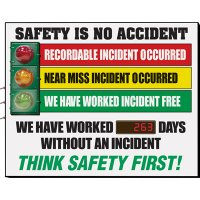 Safety Is No Accident Signal Scoreboard