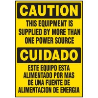 Voltage Warning Labels - Bilingual More Than One Source