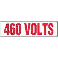 Voltage Warning Labels - 460 Volts