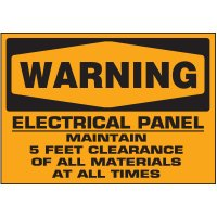 Voltage Warning Labels - Warning Electrical Panel