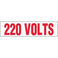Voltage Warning Labels - 220 Volts