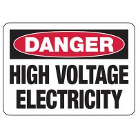 Electrical Safety Signs - Danger High Voltage Electricity