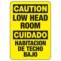 Bilingual Caution Low Head Room Sign