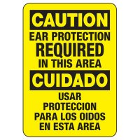 Bilingual Ear Protection Required Sign