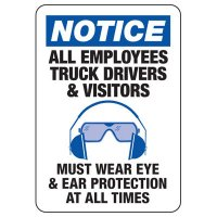Eye & Ear Protection Required Sign