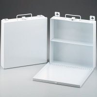 Empty Metal First Aid Cabinets
