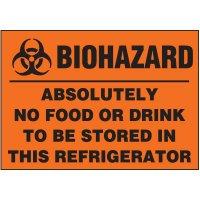 Biohazard No Food/Drink Label