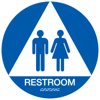 California Restroom Signs