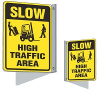 Flanged Traffic Slow Sign