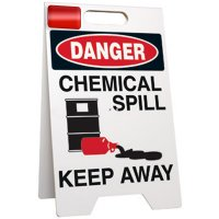 Danger Chemical Spill Floor Stand