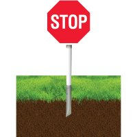 In- Ground Stop Sign Stanchion System