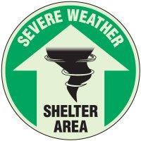 Severe Weather Shelter Anti-Slip Floor Markers