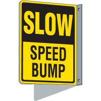 Flanged Traffic Slow Speed Bump Sign