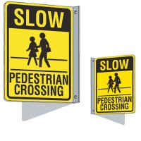 Flanged Traffic Pedestrian Crossing Sign