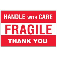 Handle With Care Package Handling Label