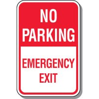 No Parking Emergency Exit Sign