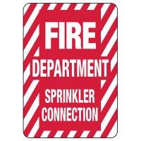 Fire Department Sprinkler Connection Safety Sign