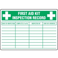 First Aid Kit Inspection Label