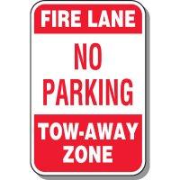 Fire Lane Signs - Fire Lane No parking Tow-Away Zone