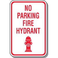 No Parking Fire Hydrant Sign