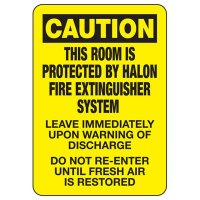 Caution This Room Is Protected Sign