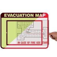 Glow in The Dark Evacuation Sign Holder