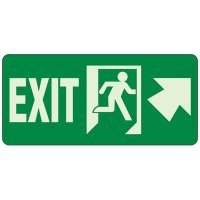 Glow In The Dark Exit Egress Sign (Arrow Up)