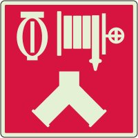 Glowing Automatic Sprinkler And Standpipe Sign