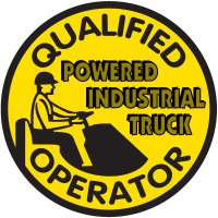 Safety Training Labels - Qualified Industrial Truck Operator