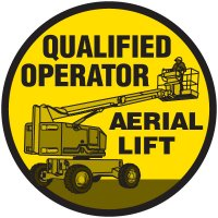 Safety Training Labels - Qualified Operator Aerial Lift