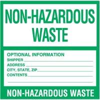 Non-Hazardous Waste Labels