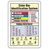 Color Bar Chemical Hazard Identification Sign