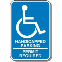 Handicap Parking Permit Required Sign