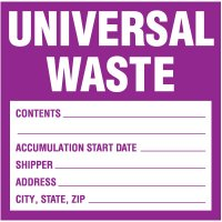 Universal Waste Labels