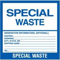 Special Hazardous Waste Labels