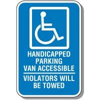 Handicap Parking Van Accessible Sign
