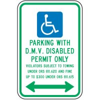 D.M.V. Permit Parking Fine Sign
