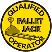 Safety Training Labels - Qualified Operator Pallet Jack