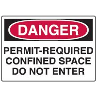 Danger Confined Space Fiberglass Sign