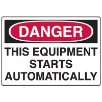 Automatic Equipment Fiberglass Sign