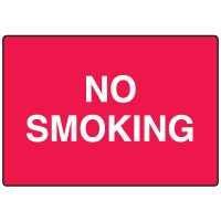 No Smoking Fiberglass Sign