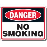 Heavy-Duty Smoking Signs - Danger No Smoking