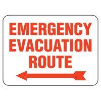 Emergency Evacuation Route Arrow Signs