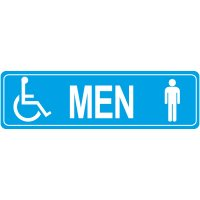 Men's Handicap Restroom Signs